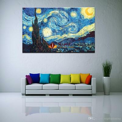 Starry Night by Vincent Van Gogh Giclee Fine Art Print on Canvas Home Decor