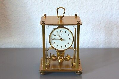 BENTIMA 400 Day Anniversary glass dome clock. Germany. Working order. Brass