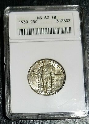 1930 Standing Liberty Quarter - ANACS MS 62 FH  - Looks Better Than A 62
