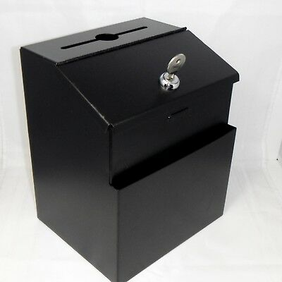 Ballot Donation Suggestion Key Drop Trade Show Steel Lock Box by Pyramid Tech