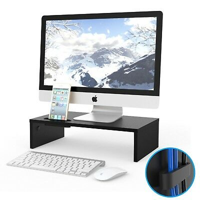 Wood Monitor Stand Riser for TV Computer Laptop Apple iMac LCD Desktop Accessory