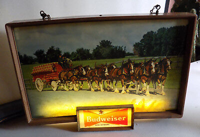 Rare Vintage Raymond Price Budweiser Electric Sign Clydesdale Form 1 970760 *nr*