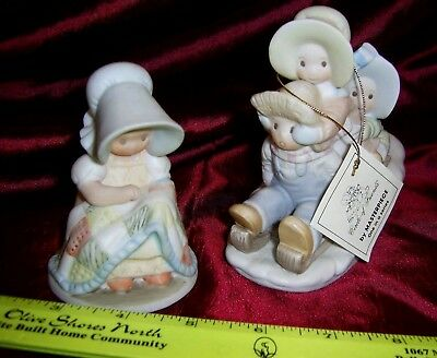 LOT OF 2  - HOLLY HOBBIE STYLE Figurines 1993 NEW