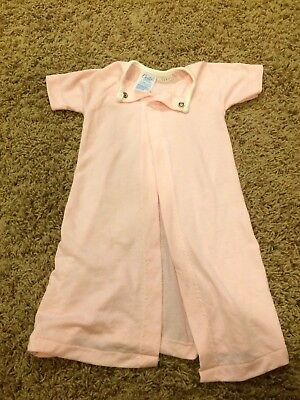 Vintage Carters Infant Baby Girl Newborn Layette Gown Pink