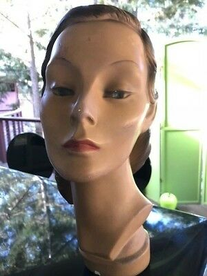 Rare Stunning Original Vintage 40s Dated & Numbered Lady MANNEQUIN Head