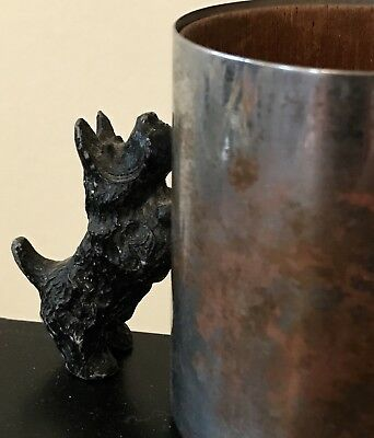 Antique Cast Iron Scottie Dog Pencil Cup