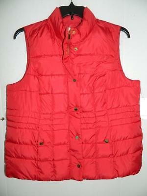 Charter Club Women's Plus Red Puffer Vest NWT Size 1X MSRP $99 WJ4736