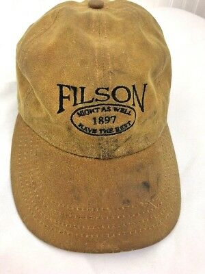 3d4ab8ed47891 Filson Tin Oil Cloth Waxed Cotton Hat USA Made Outdoors Sportsman Camping  Sport