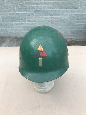 US 1st Armored Division Lieutenants Helmet Liner Named