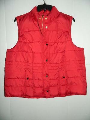 Charter Club Women's Plus Red Puffer Vest NWT Size 3X MSRP $99 WJ4723