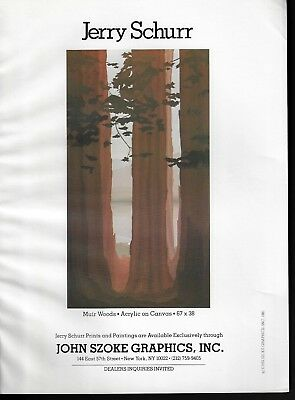 Jerry Schurr Muir Woods Art Gallery 1981 Print Ad