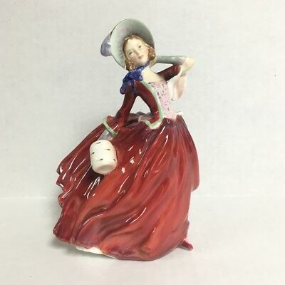 Royal Doulton Autumn Breezes Figurine Woman in Red Dress HN 1934