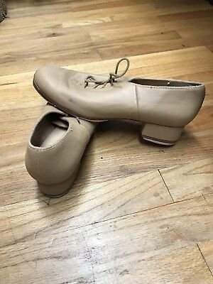 Bloch size 10.5M Techno Tap Tan Leather Lace Up Women Tap Shoes
