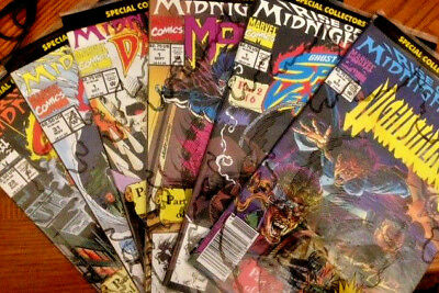 Rise of the Midnight Sons Parts 1-6 poly-bagged Marvel Comics 1992 Ghost Rider++
