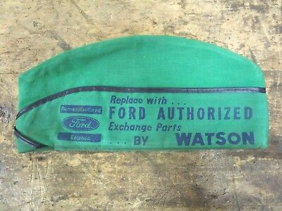 RARE Vintage Watson FORD Service Station Dealership Mechanics Hat Cap