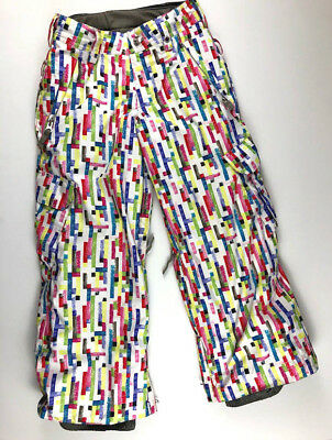 Burton Girls M 7 8 Multi Colored Snowboard Ski Pants Dryride