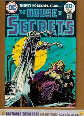 House of Secrets #116 (9.4-9.6) NM+ By Luis Dominguez 1974 Bronze Age Key Issue
