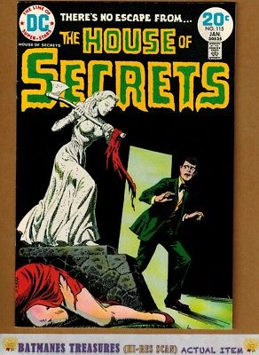 House of Secrets #115 (9.2-9.4) NM By Luis Dominguez 1974 Bronze Age Key Issue