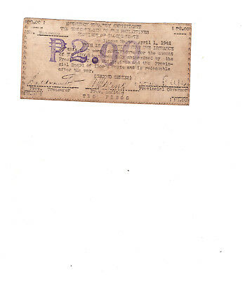 Philippines Emergency Guerilla Currency Province of Ilocos Norte (second Series