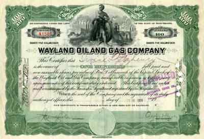 1914 Wayland Oil & Gas Stock Certificate