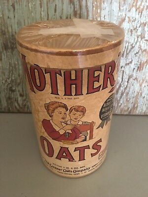 Vintage Quaker Oats Co. MOTHER'S Oats Cardboard Container