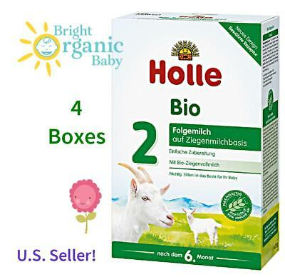 4 BOXES - Holle Organic Goat Milk Formula Stage 2 400g (14.1oz) - FREE SHIPPING!