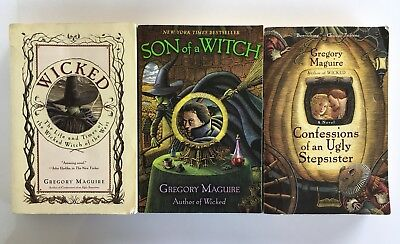 Gregory Maguire Books Lot of 3 Wicked Paperback Son of a Witch Ugly Stepsister