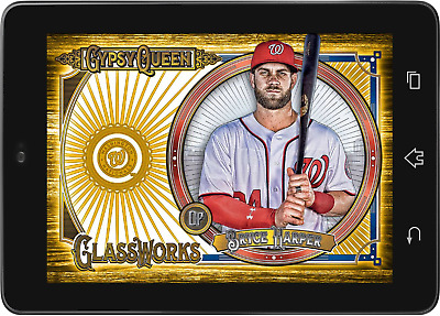 Topps BUNT Bryce Harper GLASSWORKS BASE GYPSY QUEEN 2018 W3 [DIGITAL CARD]