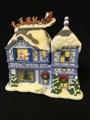PartyLite P8651 The Night Before Christmas Musical Tea Light House Music Box