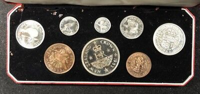 1953 New Zealand 8-Coin Proof Set In Original Box