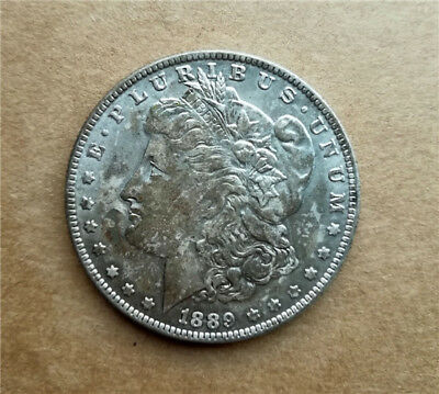 1pc Collection Antique Silver Plated Coin 1889-cc , 28g, Dia. 1.46inches Copper