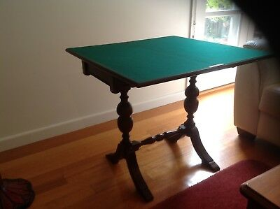 Reproduction folding card / side table - good condition - 715mm high, 800mm deep