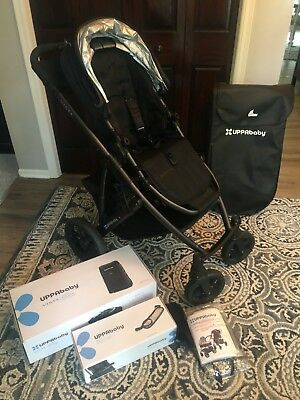 Uppababy Vista Stroller With Bassinet And Travel Bag Snack Tray In Black