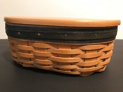 Longaberger Collectors Club Harmony Basket No. 3 w/ Protector and Wooden Lid COA