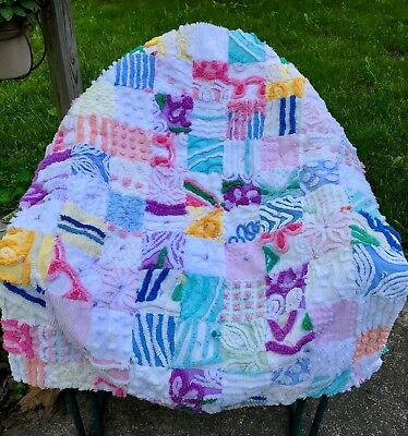Be Bold Baby! Handmade Chenille Baby Toddler Quilt Blanket Colors Galore!