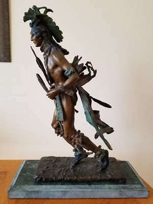 "After Frederic Remington, Mid 20Th C. Bronze Sculpture ""indian Dancer"""