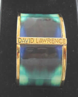 DAVID LAWRENCE HINGED BANGLE 40mm Wide in DL BOX - PRISTINE CONDITION