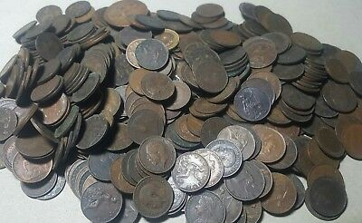 505 TOTAL Old Britian FARTHING coins Collection Lot****