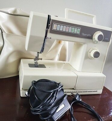 Vintage Bernina Bernette 330 Zig Zag Sewing Machine ZigZag + Case & More