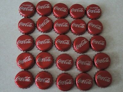 25  COCA COLA BOTTLE CAPS 2 of them from Europe say Classic Coca Cola