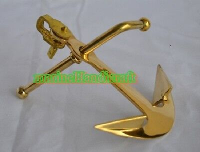 Vintage Brass Display Model Ships Anchor Paperweight Boat Desk Nautical Maritim