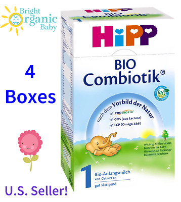 4 BOXES - HiPP BIO Combiotic Stage 1 Organic First Infant Milk - FREE SHIPPING!