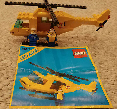 Lego 7738 Coast Guard Rescue Chopper 100 Helicopter Instructions