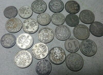 24 Total Sweden 10 & 25 Silver Ore Coins Lot****