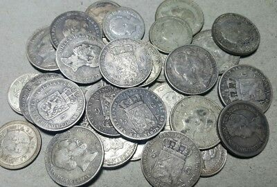 32 Total Old Netherlands Silver Coins Lot****