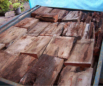 Firewood - Redgum Posts / Sleepers Red Gum - Cut - Trailer Load Of Redgum