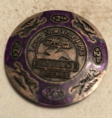 Hollywood Park Casino $2.50 Casino Chip Inglewood Ca 2.99 Shipping