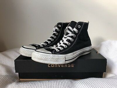 Converse Chuck Taylor All Star High Tops Mens Womens Unisex - BLACK. US MENS 7.5