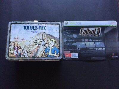 Fallout 3 Vault Tech Lunchbox Collector's Edition with Bobblehead 101 No Game