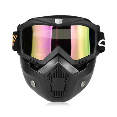 YKT - AB262 Motorcycle Mask Detachable Goggle Mouth Filter for Open Face Helmet